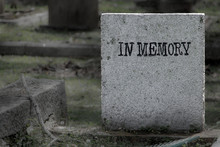 The Obsolete Tombstone With Te...