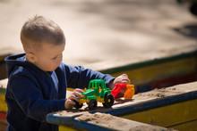 Portrait Of Cute Toddler Boy S...