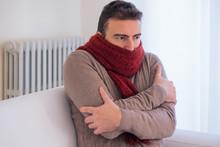 Man Freezing And Shivering At ...