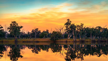 Murray River At Sunset, Riverl...