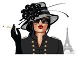 Kobieta z okulary przeciwsłoneczne i kapelusz - 231328407