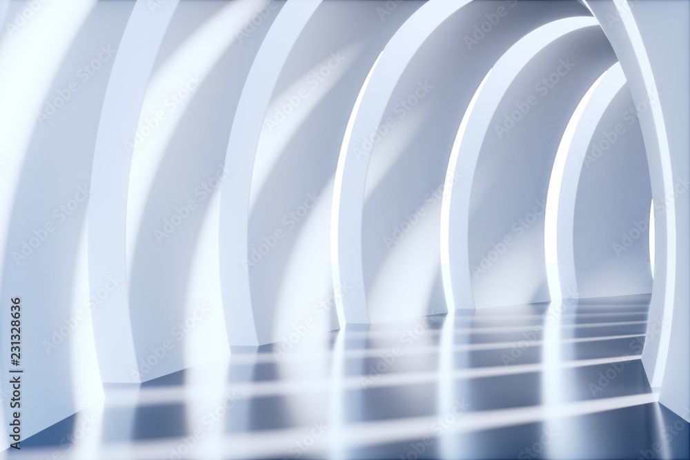 Fototapety, obrazy: Pusty tunel, render 3D