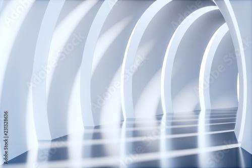 Obraz Pusty tunel, render 3D - fototapety do salonu