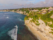 Aerial shot. Photos from the drone. Beach Dreamland Bali Indonesia