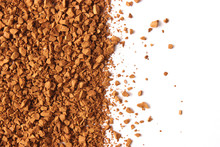 Instant Coffee Isolated On Whi...