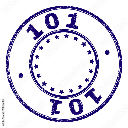 Photo  101 stamp seal watermark with grunge texture