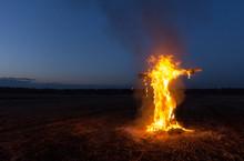 Burning Cross In The Night