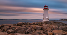 Peggys Cove Lighthouse Long Exposure