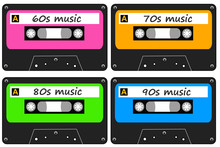 Retro Music Cassettes