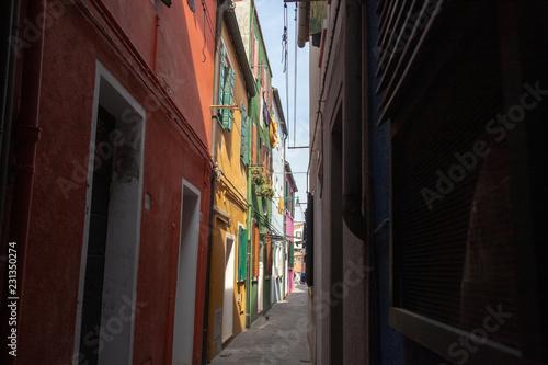 Plakat Burano, Wenecja, Włochy