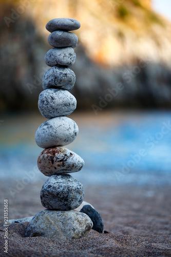 Photo sur Plexiglas Zen pierres a sable Balance