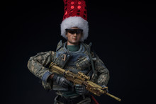 Toy Action Figure With Santa H...