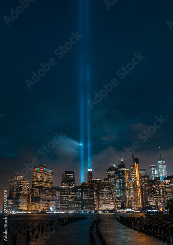 9/11 Tribute Ligths Canvas Print