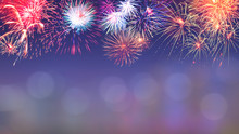 Colorful Firework Background 8