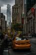 ニューヨーク・ウォール街の街並み