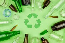 Green Recycle Sign Symbol With...