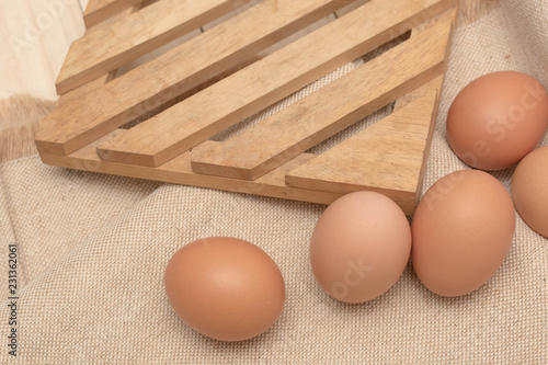 egg on sack background