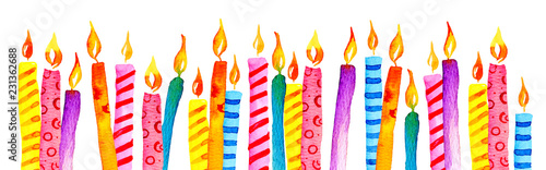 Fotomural Stylized birthday candles in a row