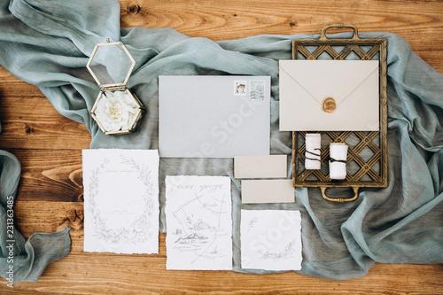 Fototapeta  Wedding calligraphy and poligraphy