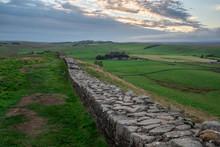 Famous Hadrian's Wall, England