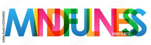 Canvastavla MINDFULNESS colorful letters banner