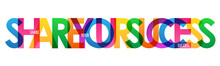 SHARE YOUR SUCCESS Colorful Le...