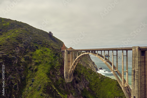 Poster Centraal-Amerika Landen Bixby Creek Bridge on Highway 1, California