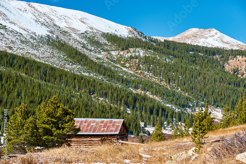 Staande foto Verenigde Staten Independence Ghost Town in Colorado mountains