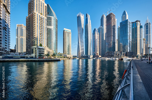 Recess Fitting Dubai Dubai marina skyline in United Arab Emirates