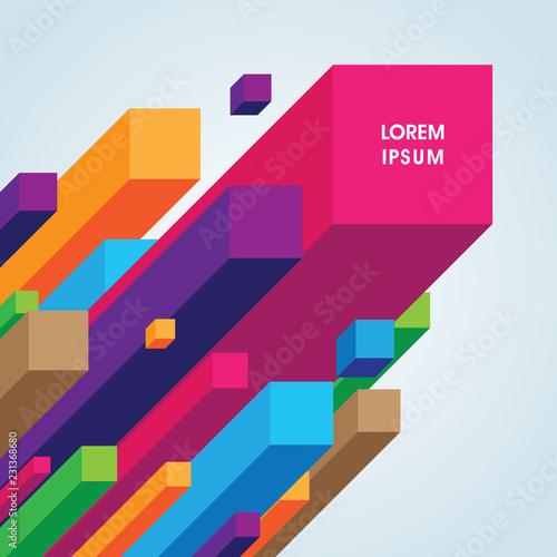 Kolorowe tło geometryczne. Może być stosowany do tapety, szablonu, plakatu, tła, okładki książki, broszury, ulotki, ulotki