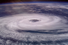 Huge Hurricane Eye. Elements O...