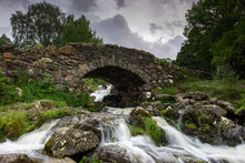 Famous Ashness Bridge, Lake District, UK, England