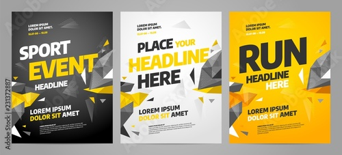 Photographie Layout poster template design for sport event, tournament or championship