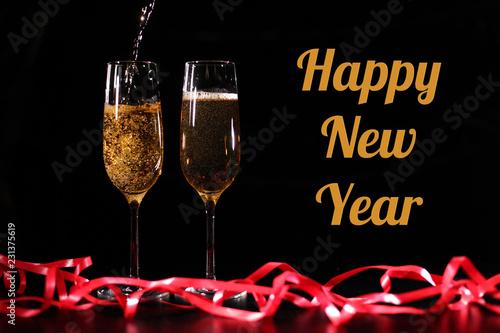 Fotografía  Inscription HAPPY NEW YEAR