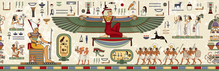 Starożytny Egipt background.Egyptian hieroglif i symbol