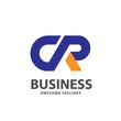 creative strong initial letter cr logo vector concept