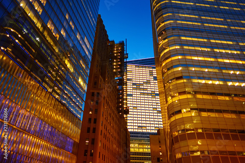 Illumination and night lights of New York City Fototapet