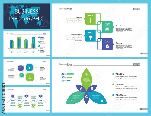 Business Infographic Presentation Slide Design Set Can Be Used For Workflow Layout Annual Report Web Design Statistics Concept Flow Chart Option Graph Process Chart Timeline Diagram Area Chart Buy This Stock