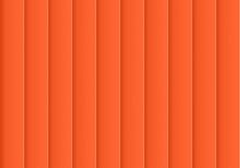 Colorful Background Consisting Of Orange Rectangle In A Row Next To Each Other. Mosaic Of Geometric Elements. Orange Vertical Louver Of Parts