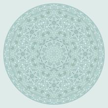 Tray, A Round Geometric Orname...