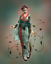 Geisha Doll, 3d CG