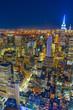 トップ・オブ・ザ・ロック(ロックフェラーセンター展望台)から見えるダウンタウンの夜景