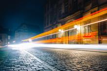 Traffic In City At Night Bamberg