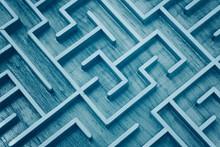 Wooden Labyrinth Maze Puzzle Close Up
