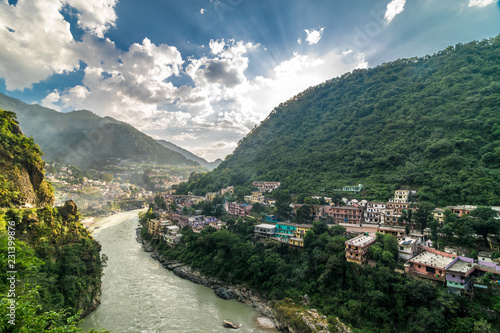 Fototapeta Alaknanda River in Rudraprayag, Uttarakhand obraz