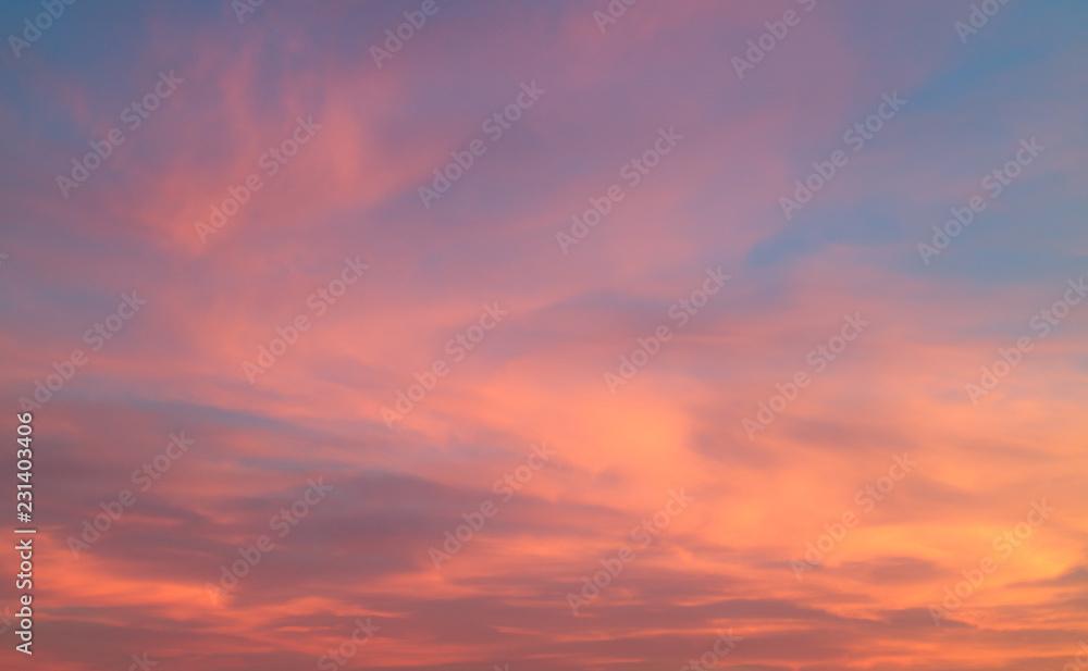 Fototapety, obrazy: Beautiful pastel cloudy sunset