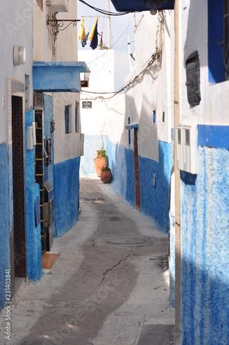 Fotografie, Obraz  rue dans la Casbah des Ouadaias, Maroc