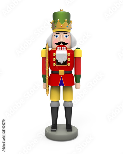 Fotomural Christmas vintage wooden nutcracker toy