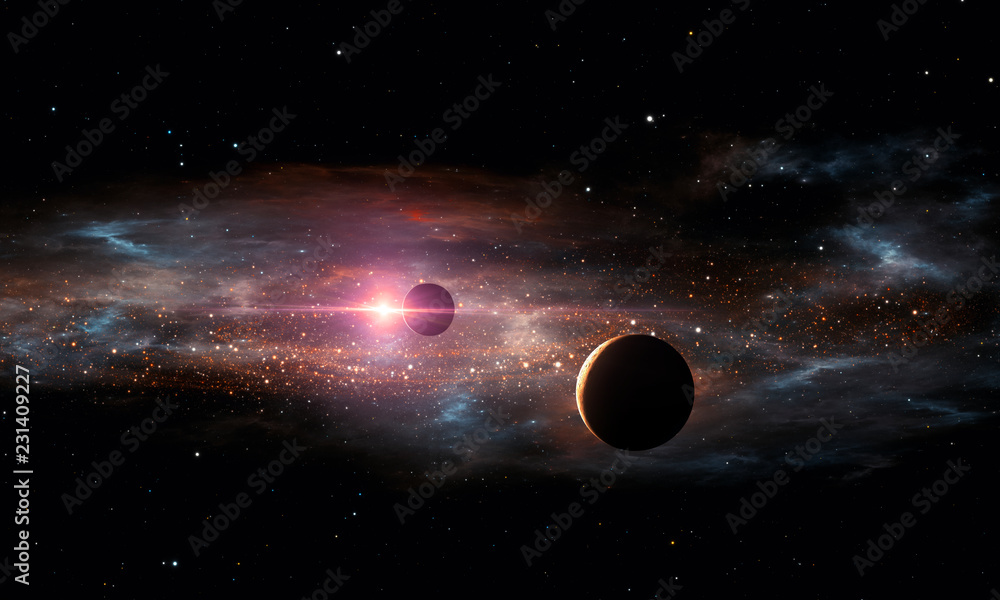 Fototapety, obrazy: Extrasolar planets. Outer space