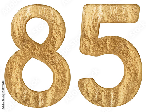 Tela  Numeral 85, eighty five, isolated on white background, 3d render